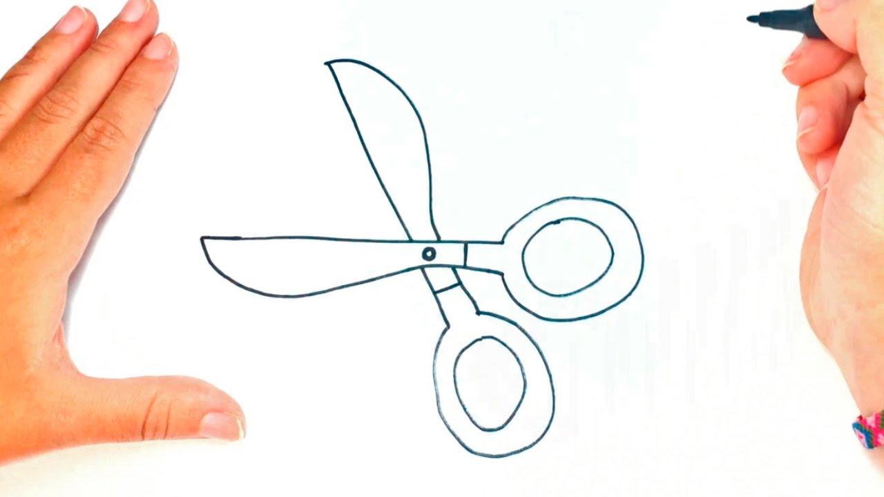 1280x720 How To Draw A Scissors Scissors Easy Draw Tutorial