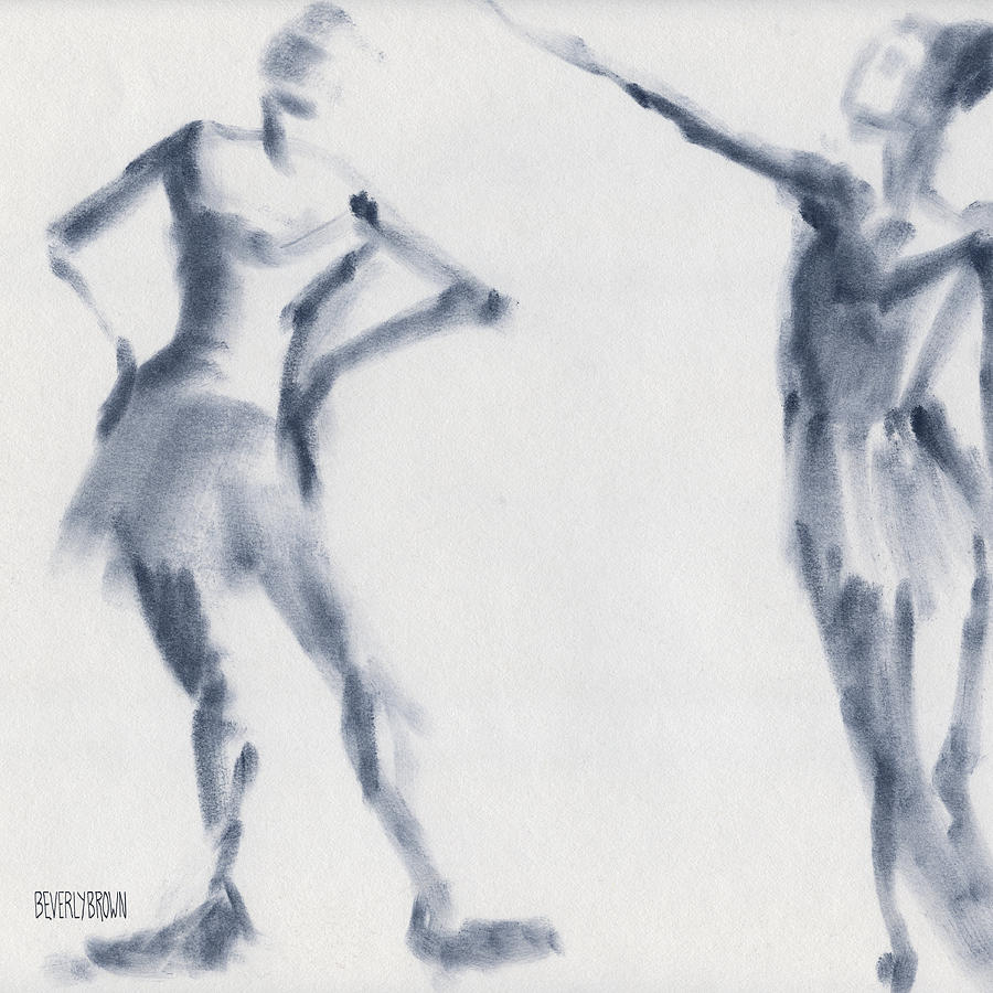 900x900 Ballet Sketch Two Dancers Shift Drawing By Beverly Brown Prints