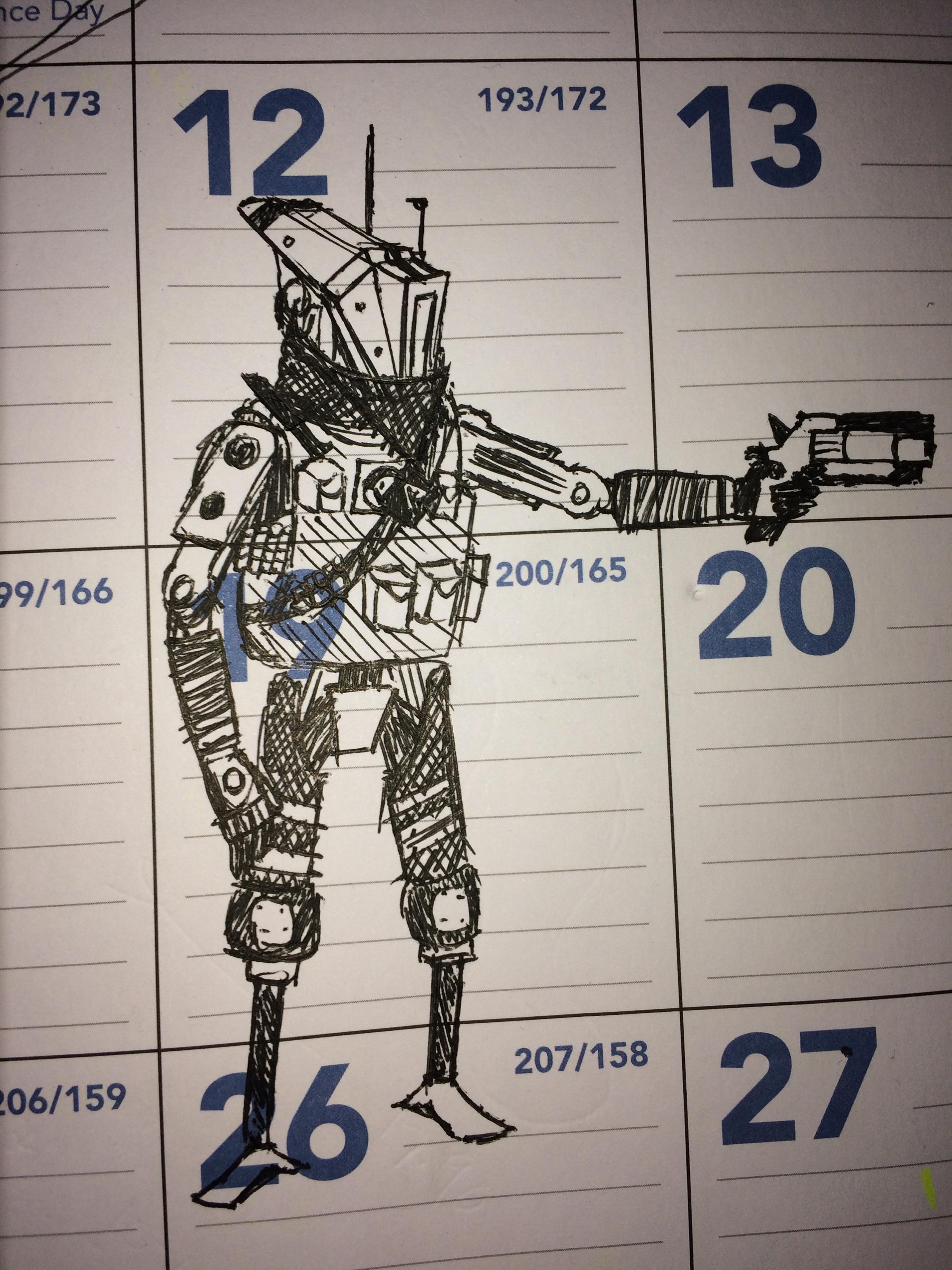 2448x3264 Phase Shift Pilot I Sketched On My Calendar