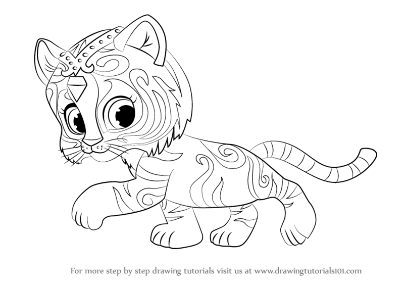 800x566 Learn How To Draw Nahal From Shimmer And Shine (Shimmer And Shine