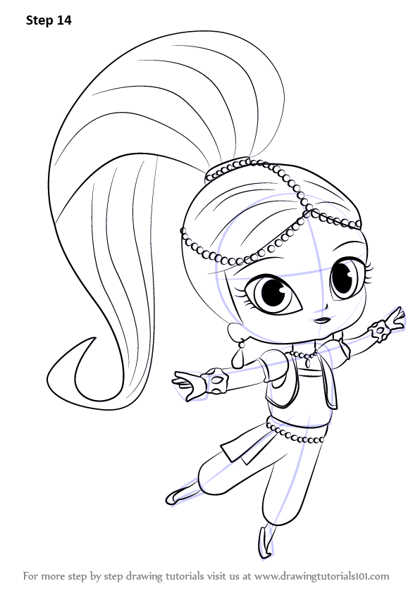 596x842 Learn How To Draw Shimmer From Shimmer Shine (Shimmer