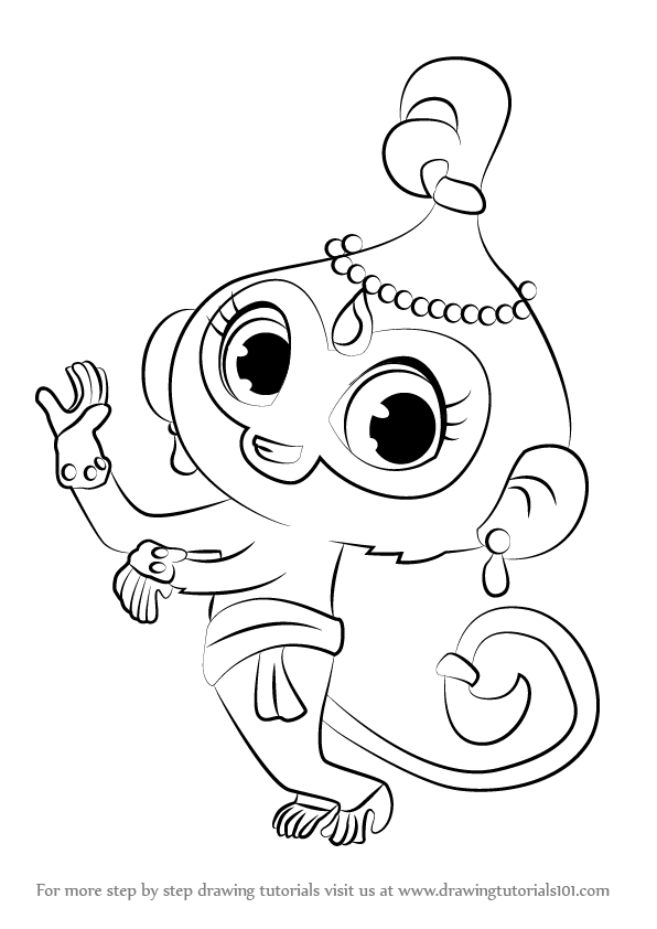 596x842 Learn How To Draw Tala From Shimmer And Shine (Shimmer And Shine