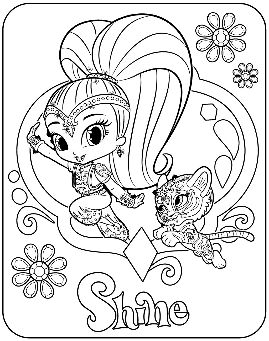 1024x1300 Shimmer And Shine Coloring Pages Fresh Free Shimmer And Shine