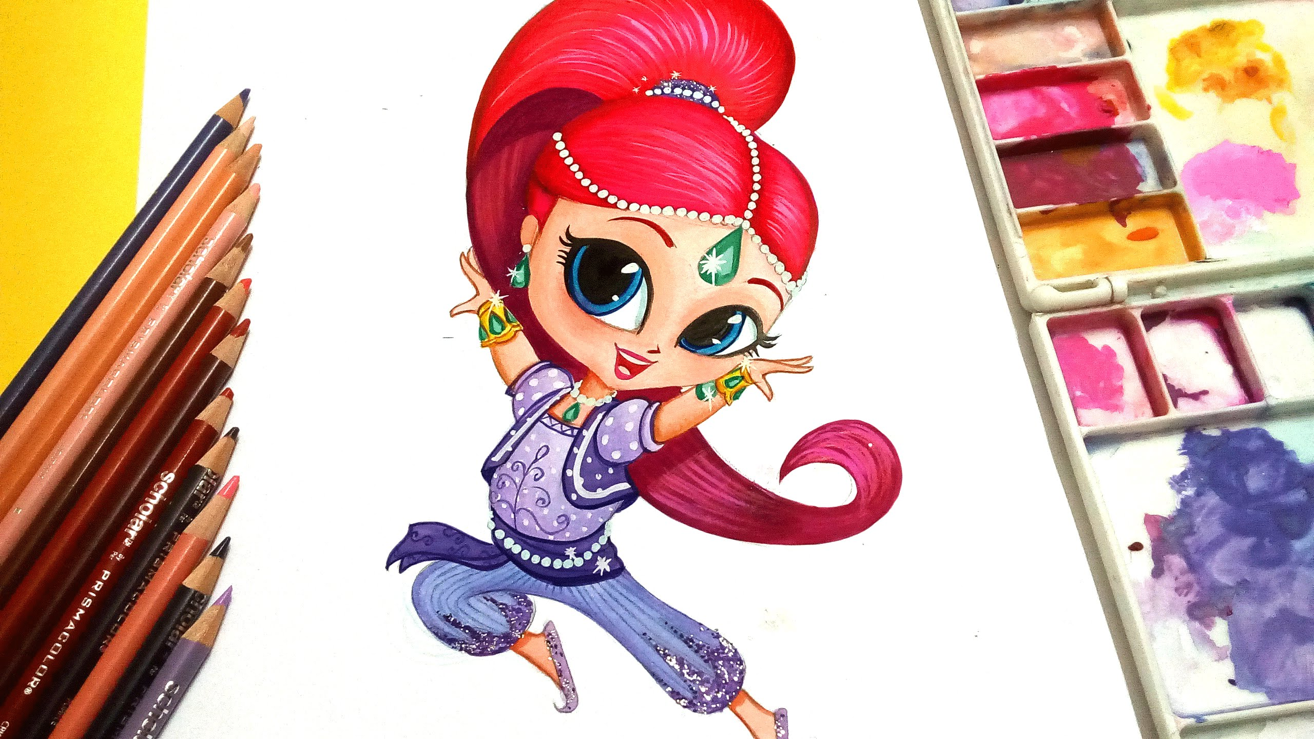 2560x1440 Draw Shimmer From Shimmer And Shine