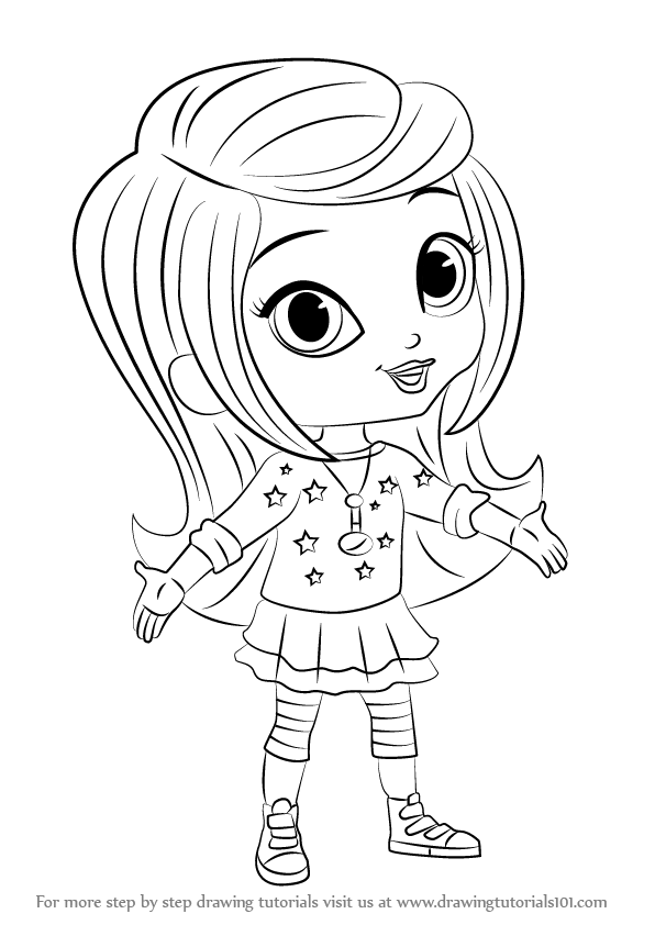 596x842 Learn How To Draw Leah From Shimmer And Shine (Shimmer And Shine