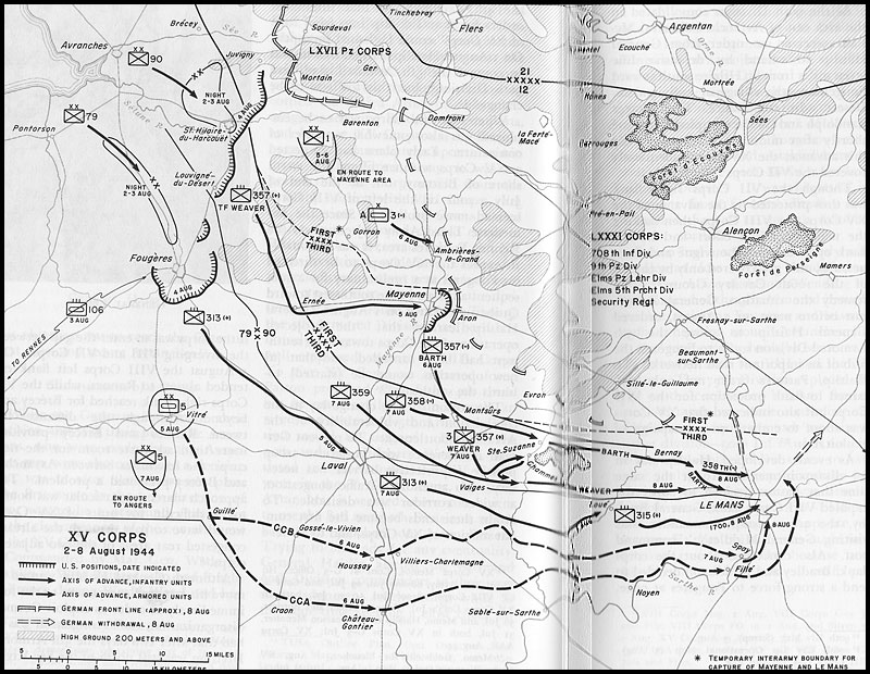 800x620 Hyperwar Us Army In Wwii The Breakout And Pursuit [Chapter 28]