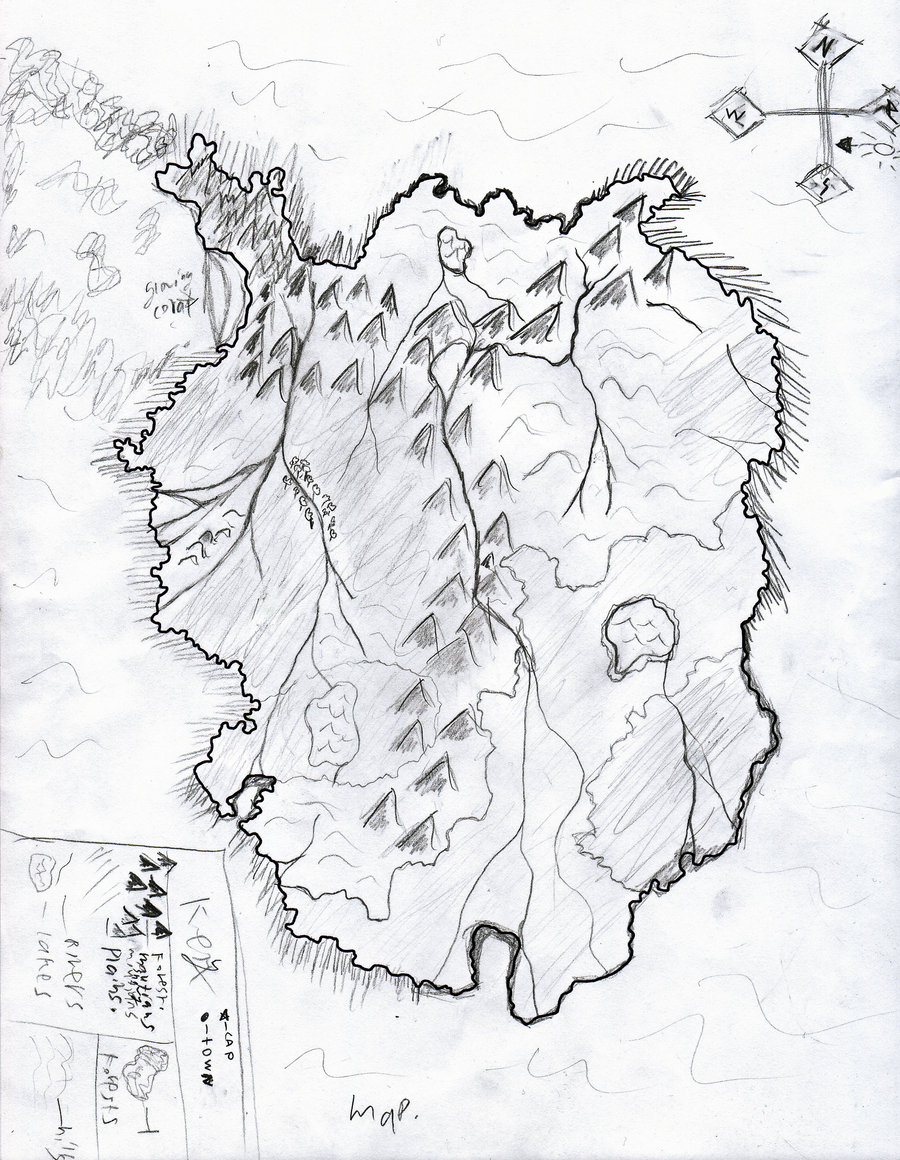 900x1160 Collection Of Island Map Drawing High Quality, Free Cliparts