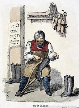 256x351 19th Century Shoemaker Shops Jane Austen's World