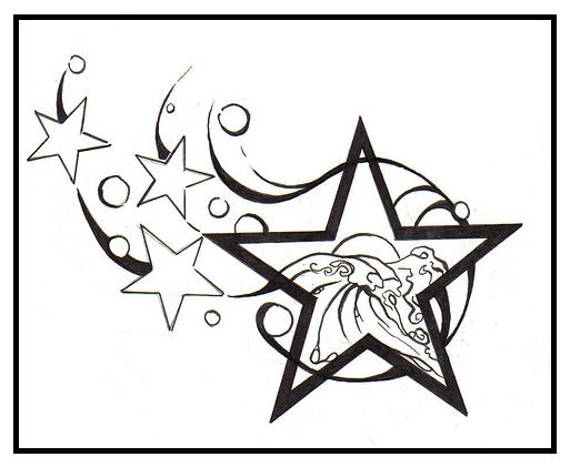 513x421 Drawn Shooting Star Graffito
