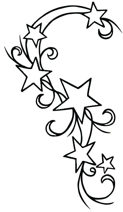 405x700 Shooting Star Outline Pencil And In Color Shooting Star Falling