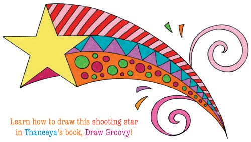 500x284 Learn How To Draw A Colorful Shooting Star In Thaneeya's Book