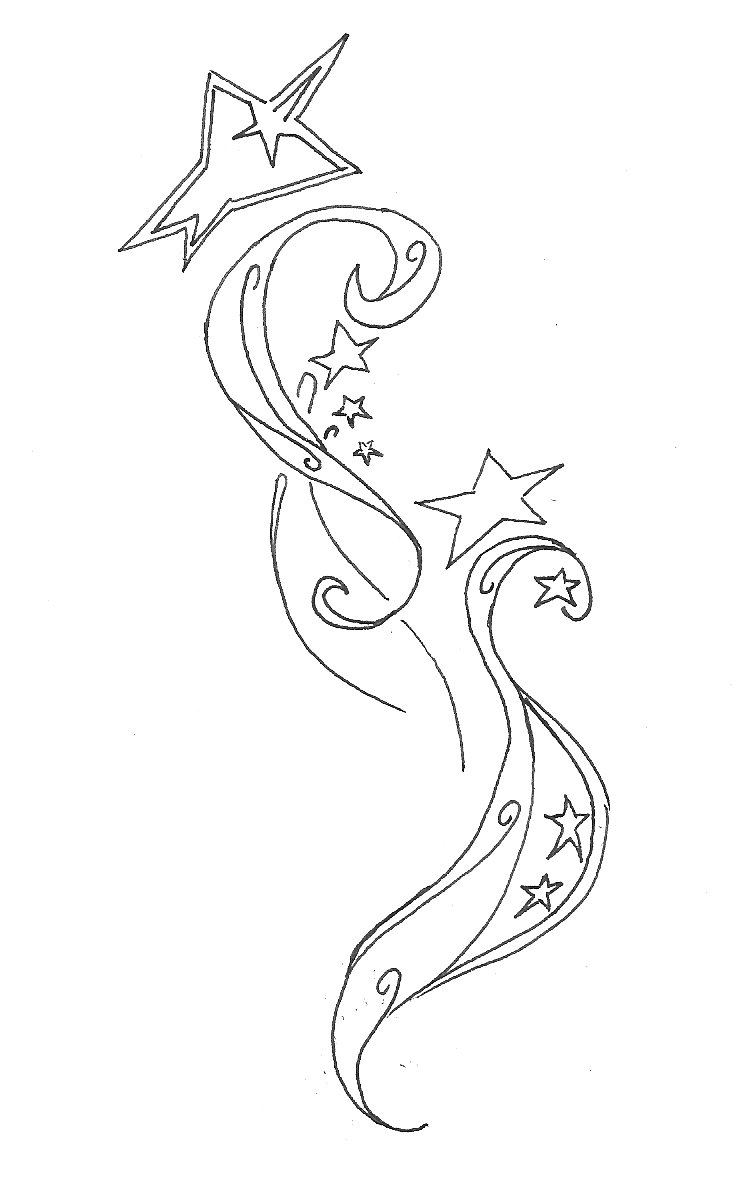 732x1188 Drawn Shooting Star Tatto Free Collection Download And Share