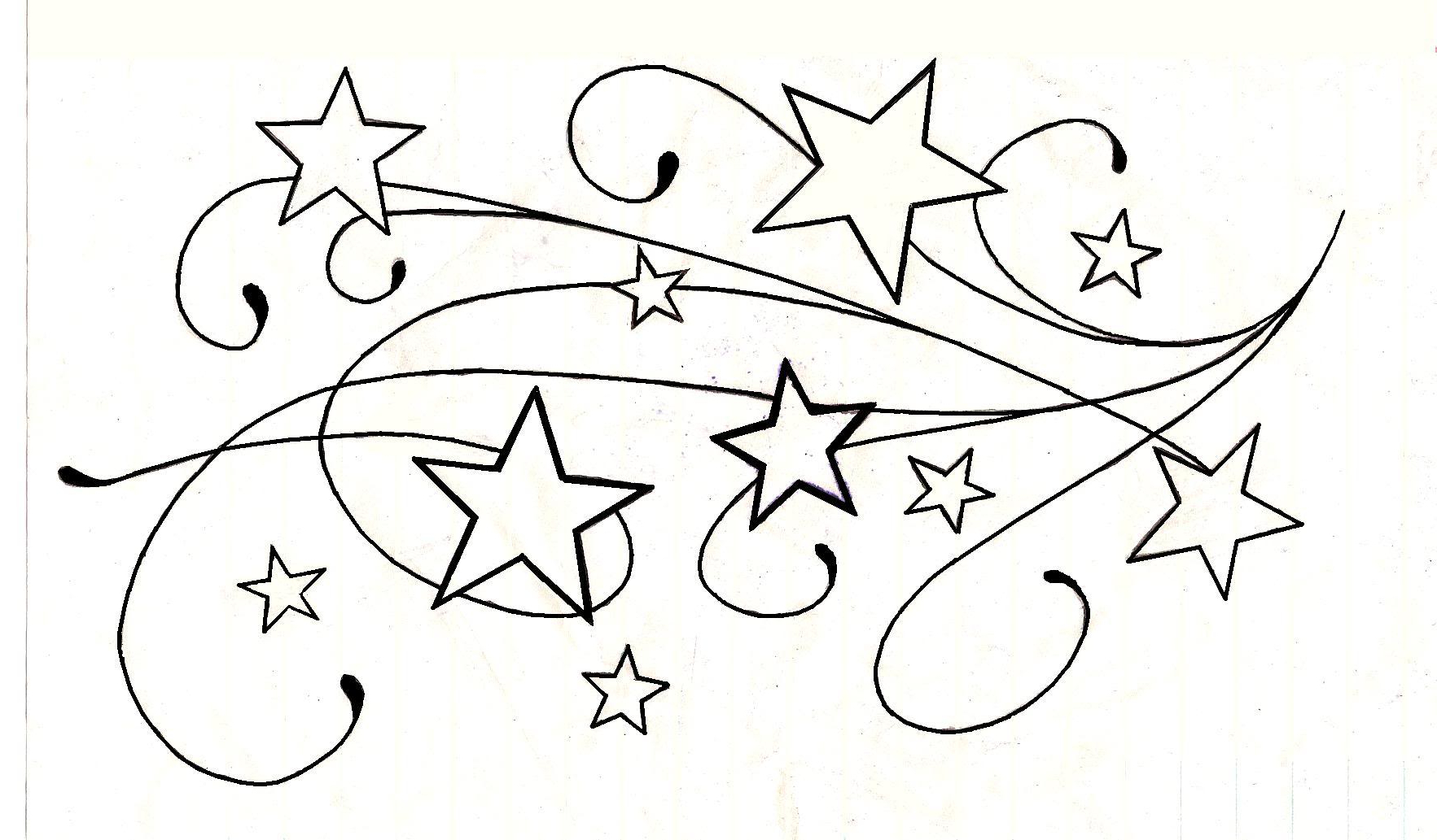 Shooting Star Tattoo Drawing At GetDrawings.com