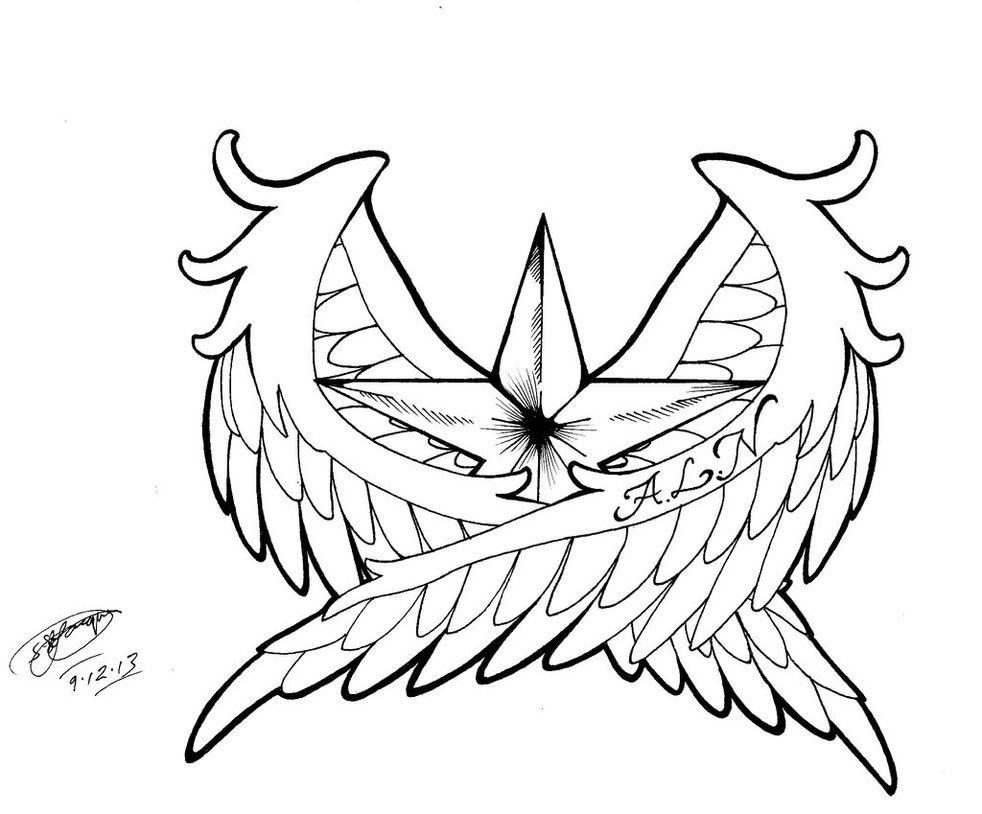 982x814 Star Tattoo Designs Tribal Shooting Star Drawing Viewing Gallery