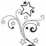 154x154 Star Tattoos Shooting Stars And Nautical Star Tattoo Designs
