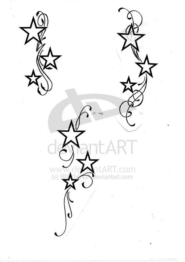 600x848 Star Trail Tattoo Designs