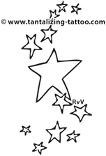 152x224 Star Tattoo Designs And History