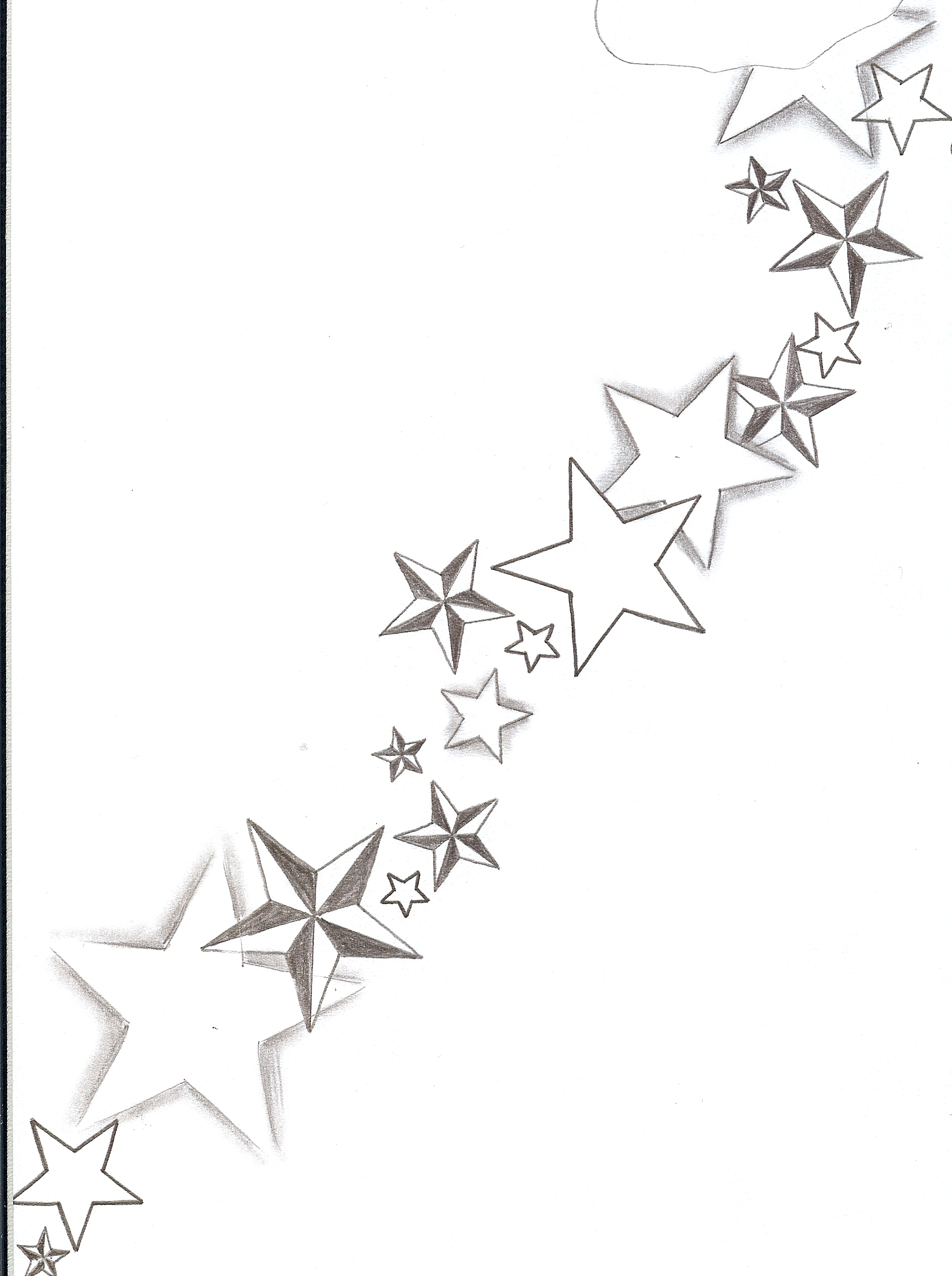 1898x2544 Various Tattoo Designs By Ben Clip On Star Tattoos Shooting Stars