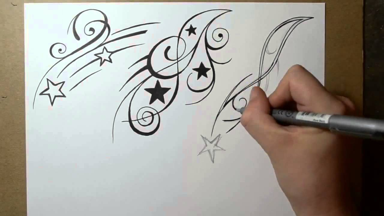 1280x720 Shooting Star Tattoo Design Ideas Sketch Sheet 2