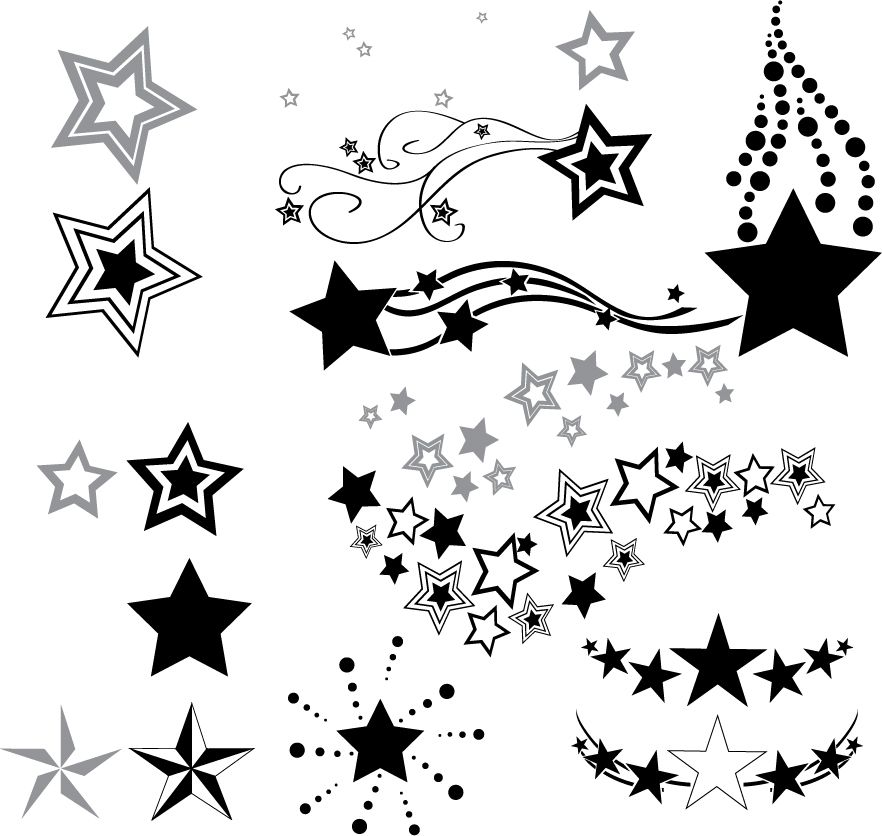 882x836 Download Free Outline Star And Moon Tattoo Design Fres On Shooting