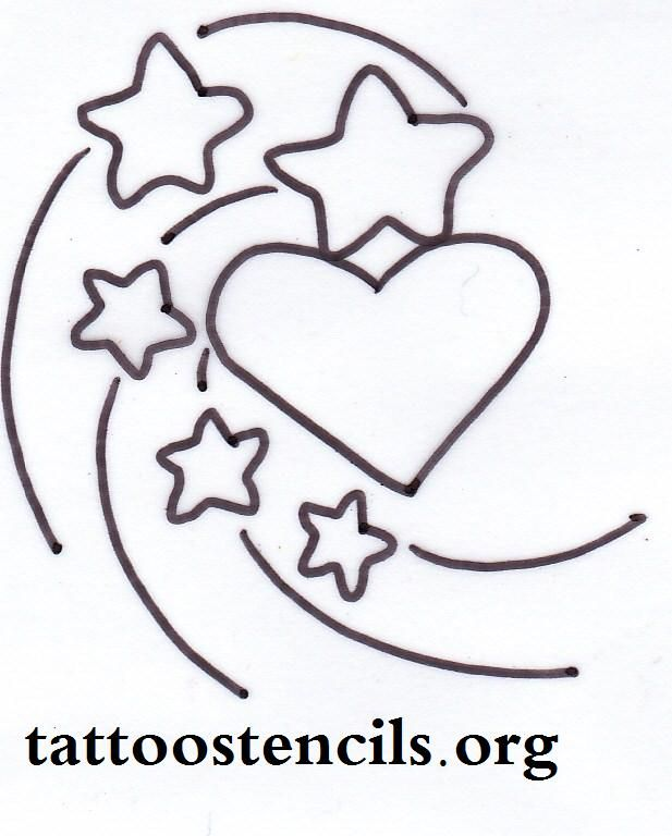 617x768 Free Printable Small Stencils Star Tattoo,shooting Stars