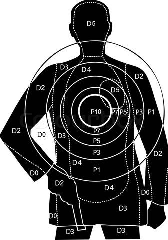 Shooting Target Drawing