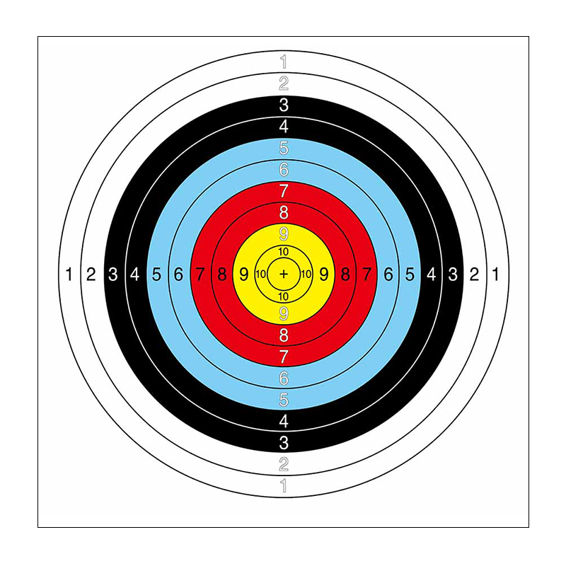 800x800 Archery Full Circle Target Half Circle Target Paper Shooting Game