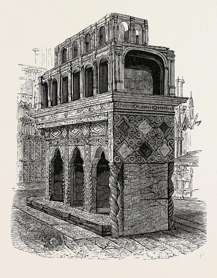 704x900 Shrine Of Edward The Confessor In Westminster Drawing By English