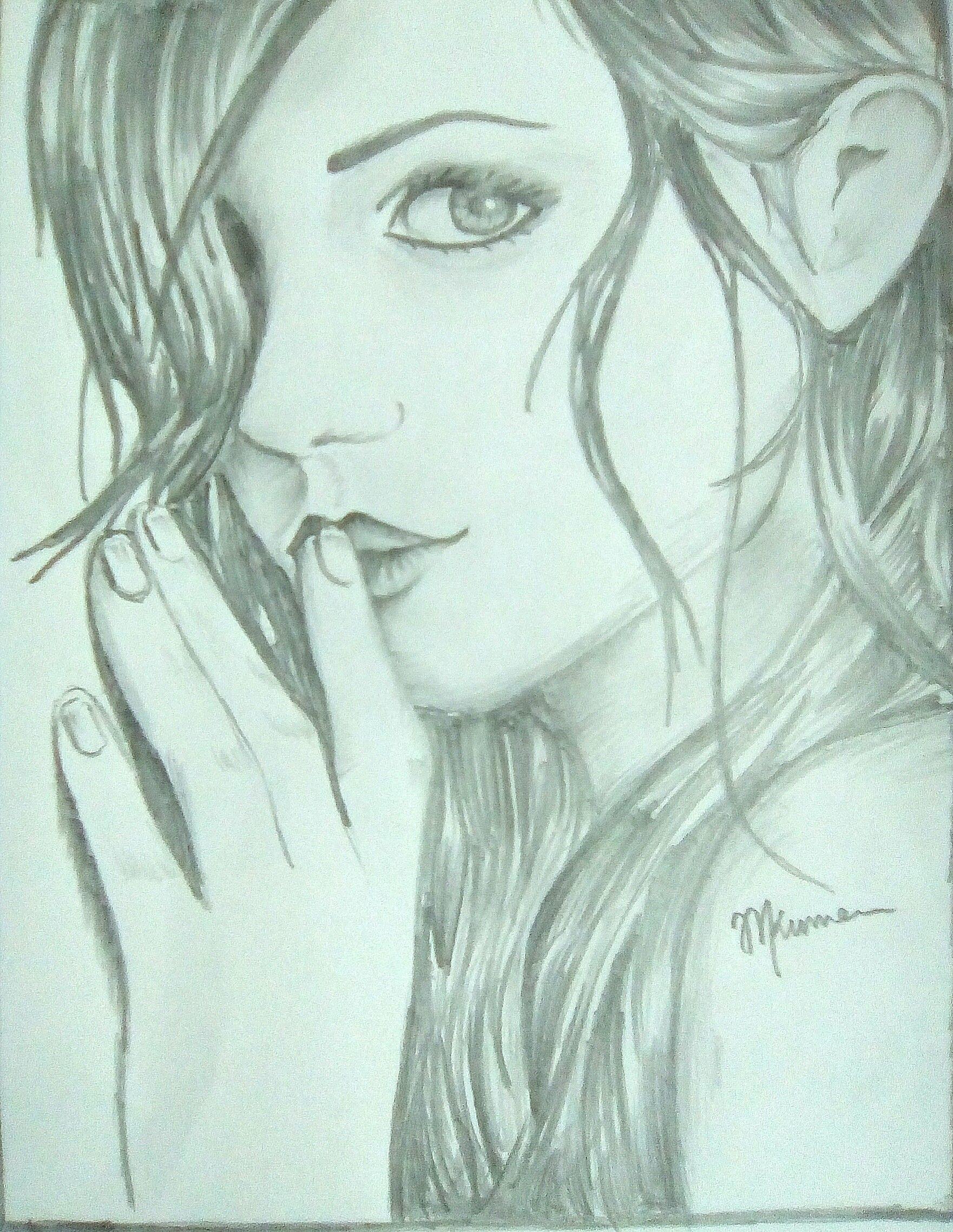 1761x2277 Shy Girl My Pencil Drawings Shy Girls, Drawings