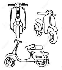 211x239 Image Result For Riding A Scooter With Sidecar Drawings Drawing