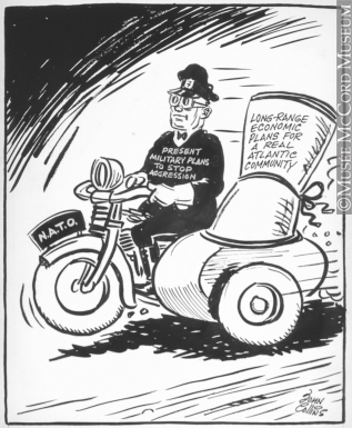 317x385 M965.199.7714 In The Sidecar. Drawing, Cartoon John Collins