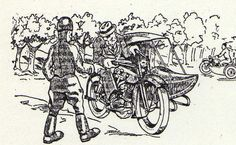236x145 Small Drawing Of A Sidecar, Moto Revue 1933, France Sidecars