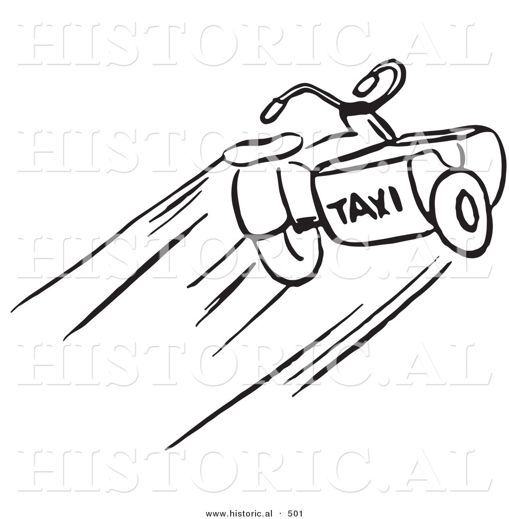 1024x1044 Historical Vector Illustration Of A Taxi Motorcycle With Sidecar