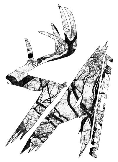 400x550 Sa Signature White Camo Addiction Vertical Decal Shed Antler Apparel