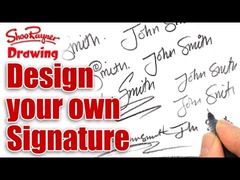 480x360 How To Design Your Own Amazing Signature Shoo Rayner Author
