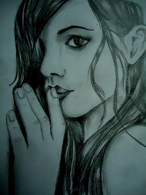 480x640 Silence Drawing By Ashish Kumar Rudra