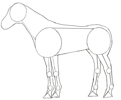 400x333 How To Draw A Horse