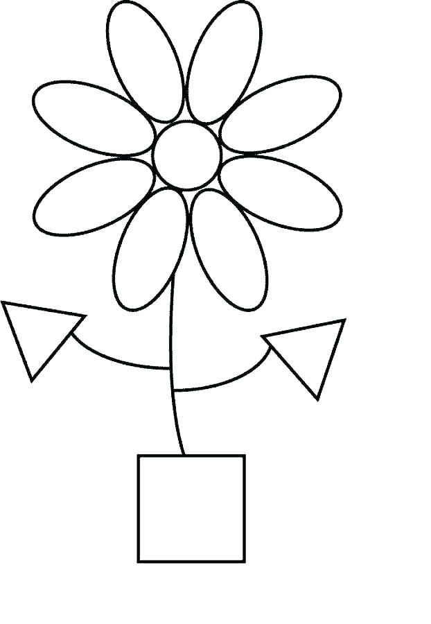 622x900 Shapes Coloring Pages For Preschoolers Shape Basic Tracing