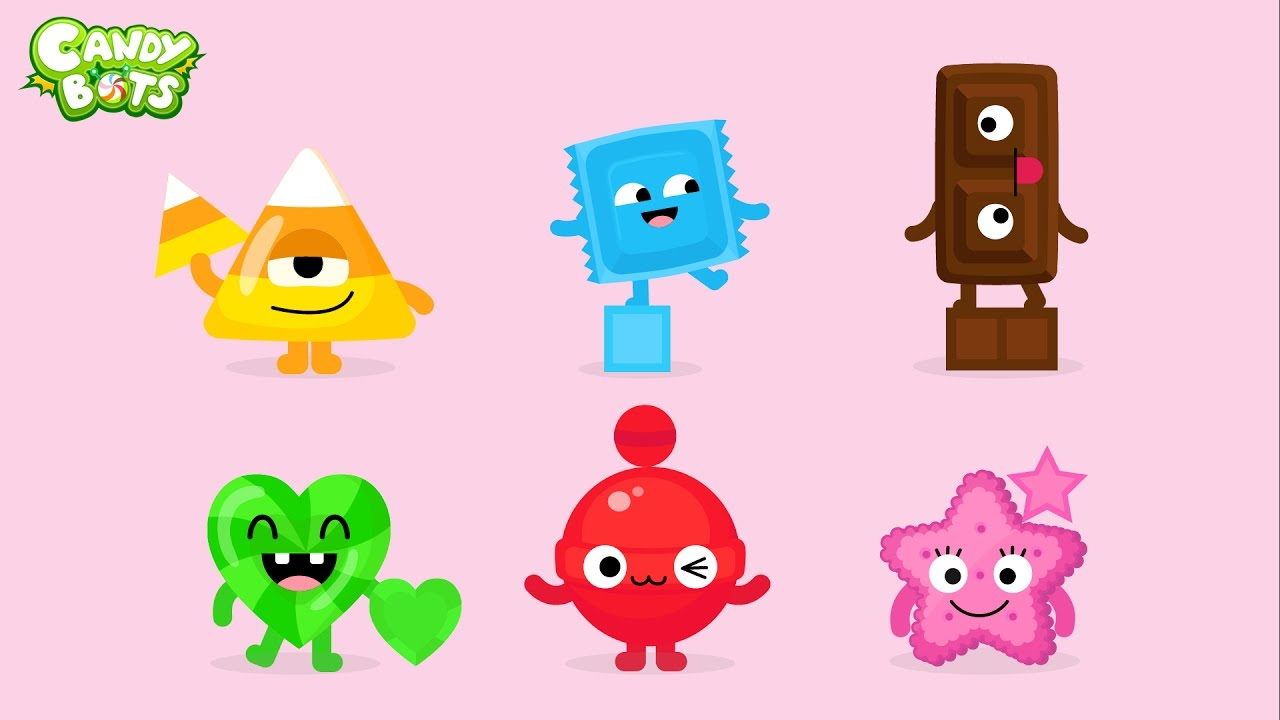 1280x720 Candy Shapes (Candybots)