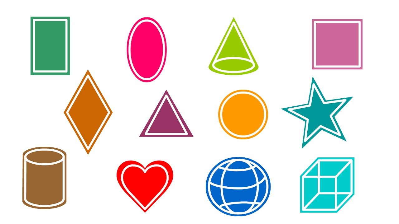 1280x720 Learn To Draw Shapes For Kids 2d Basic Shapes Simple Basic