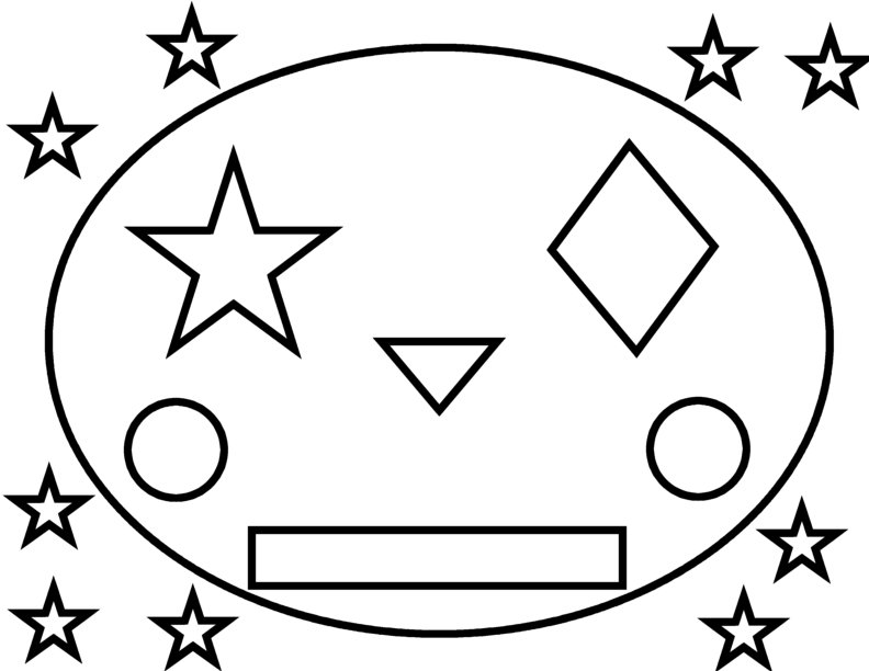 792x612 Free Printable Shapes Coloring Pages For Kids