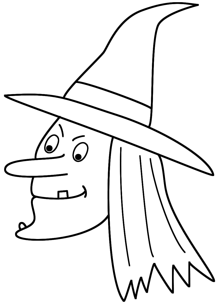 Simple Halloween Witch Drawing At Getdrawings Com Free For