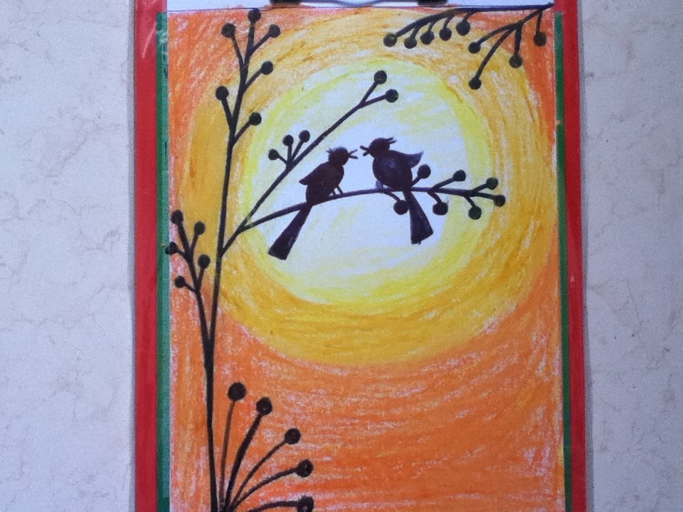 960x720 Beautiful Drawing For Children In Simple Steps(Oil Pastel Shading