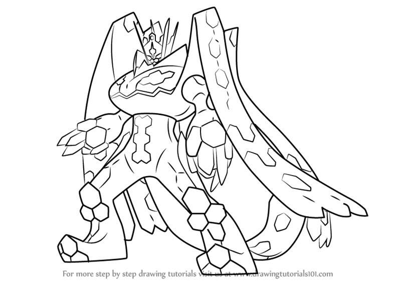 800x566 Learn How To Draw Zygarde Complete Forme From Pokemon Sun And Moon