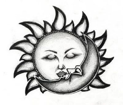 400x343 30 Best Tribal Moon Tattoo Meaning Images On Tribal