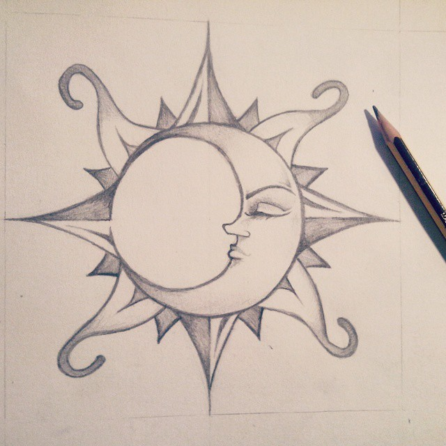 640x640 Collection Of Easy Moon And Sun Drawing High Quality, Free
