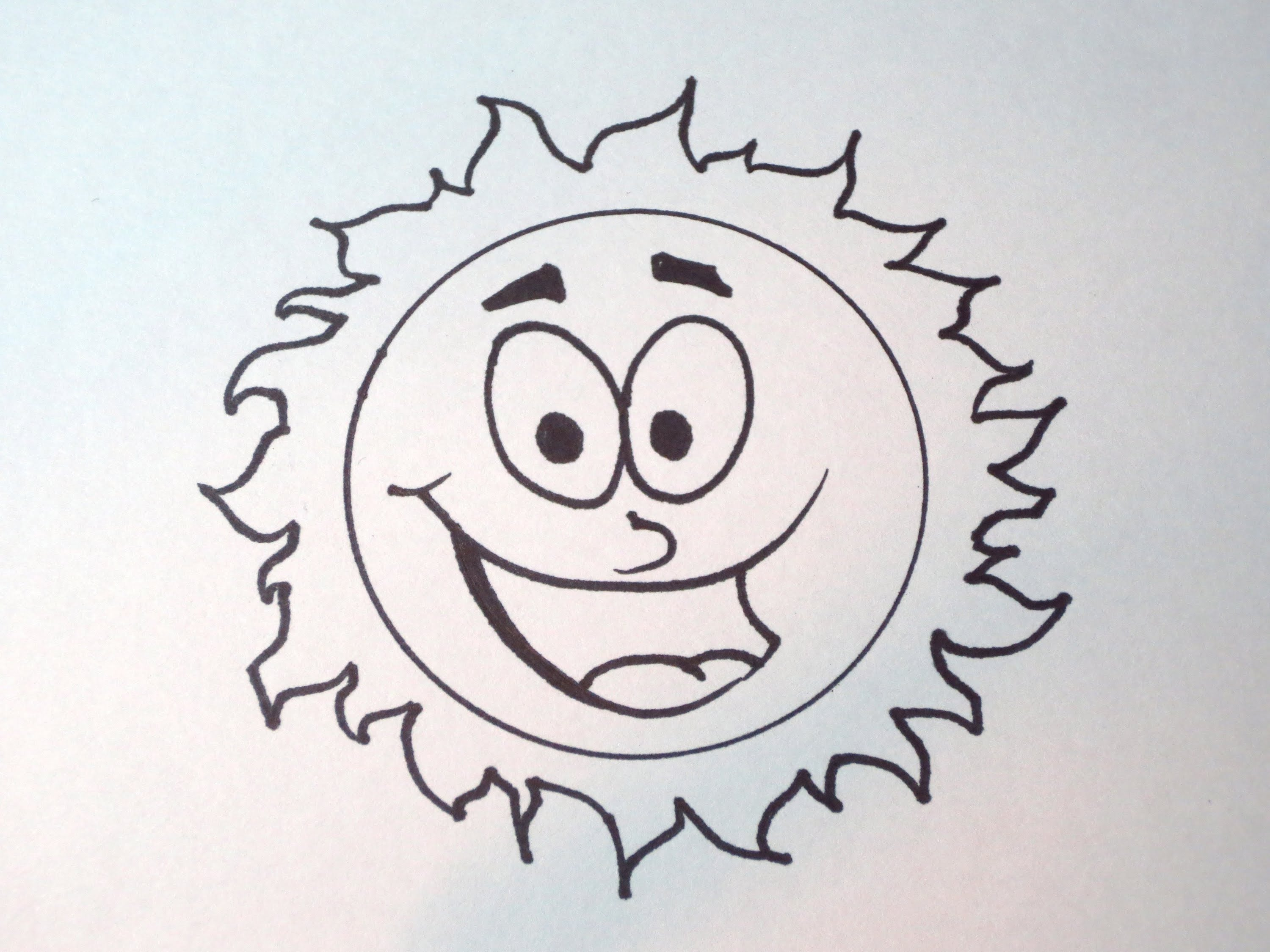 3000x2250 How To Draw A Simple Cartoon Sun