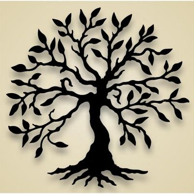 400x400 Silhouette Tree Of Life Wall Hanging Flower Tree Olive Tree
