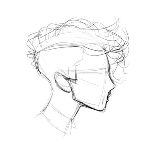 500x500 Image Result For Anime Monochrome Hiding Face Ugly (Cool Sketches