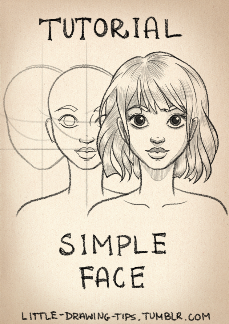 744x1052 Drawing Simple Face